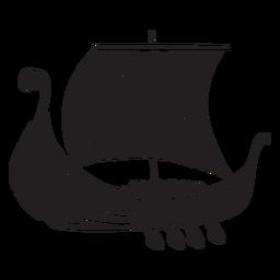 Altes Wikingerschiff schwarz