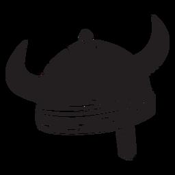 Casco vikingo armadura negro