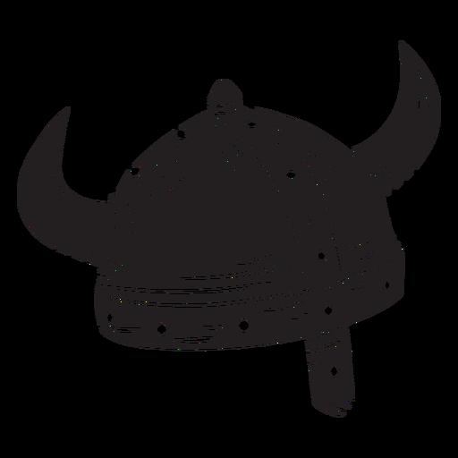 Armadura casco vikingo negro Transparent PNG
