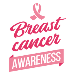 Awareness breast cancer lettering