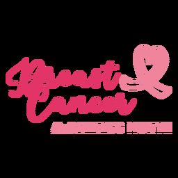 Letras de câncer de mama de mês de conscientização