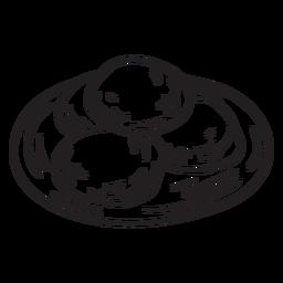 Curso de comida de pão sírio cozido