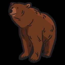 Ilustración de oso marrón animal