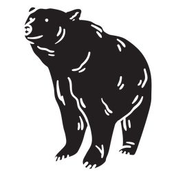 Bear big black illustration