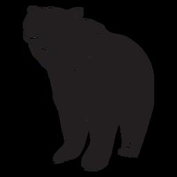 Urso grande ilustração preta