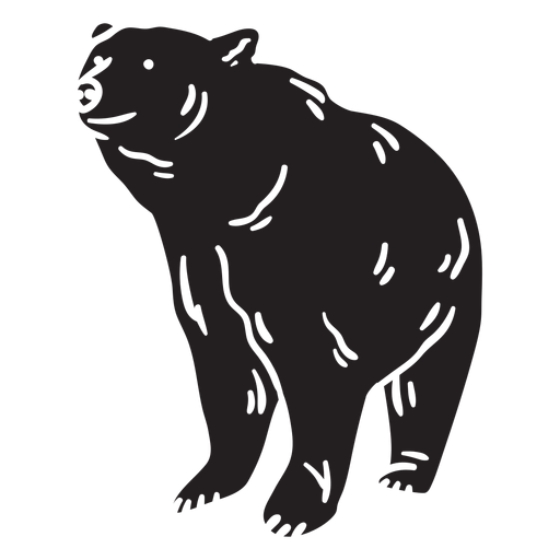 Bear big black illustration Transparent PNG