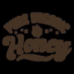 Emblema de mel bonito abelha