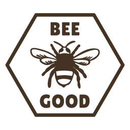 Bee wings good hexagon badge