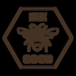 Emblema de hexágono de asas de abelha bom