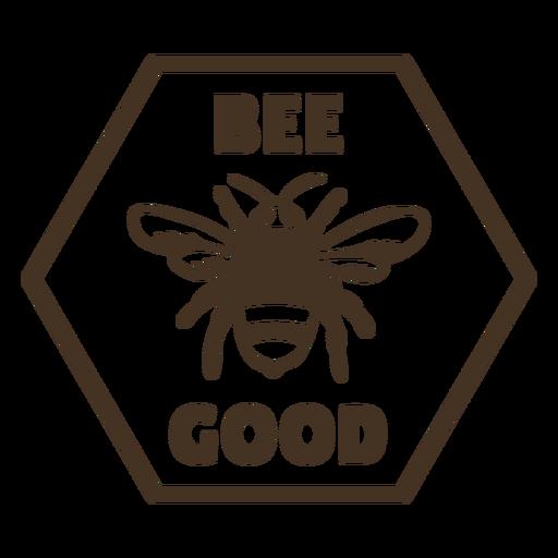 Alas de abeja buena insignia hexagonal Transparent PNG