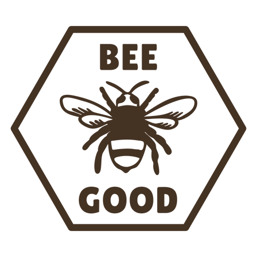 Bee wings good hexagon badge Transparent PNG