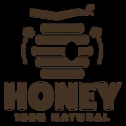 Insignia natural de miel de colmena