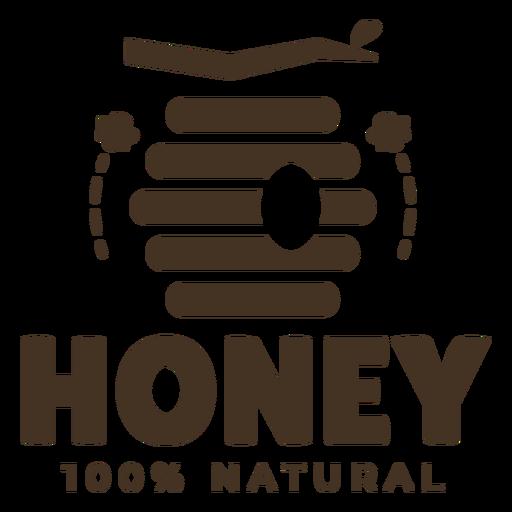 Beehive honey natural badge