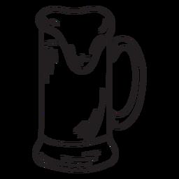 Bier brauen Schaumkrug Schlaganfall