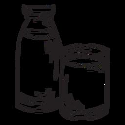 Beverage dairy milk stroke
