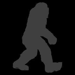 Große große Kreatur Bigfoot schwarz