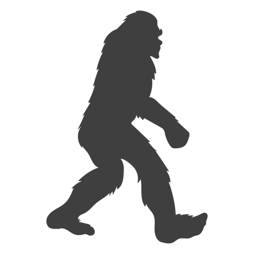 Gran criatura grande Bigfoot negro Transparent PNG