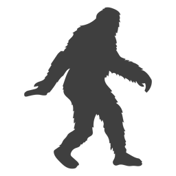 Bigfoot criatura en movimiento folclore negro
