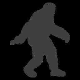 Bigfoot criatura en movimiento folclore negro