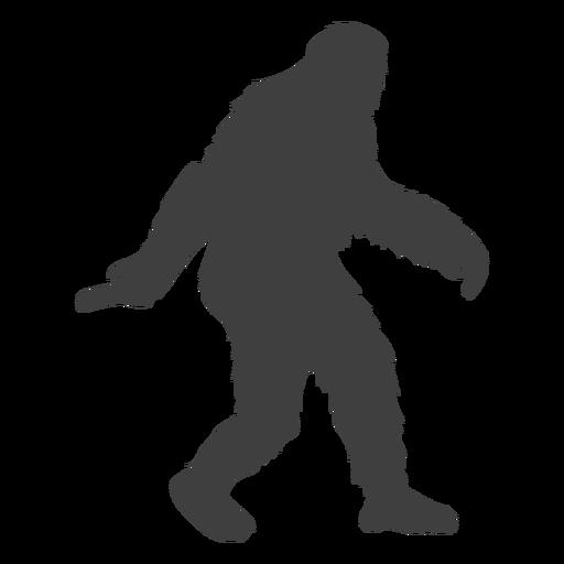 Bigfoot criatura en movimiento folclore negro Transparent PNG