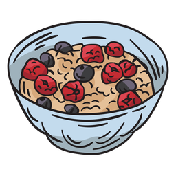 Bircher muesli dish food illustration