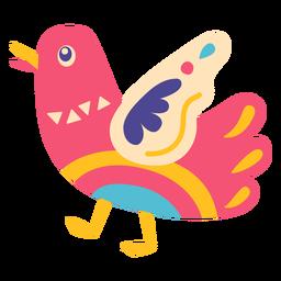 Ilustración de pájaro otomi méxico