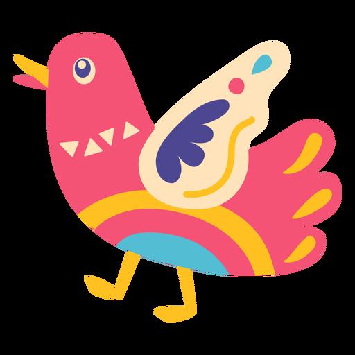 Bird otomi mexico illustration