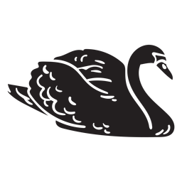 Ilustração de pato preto