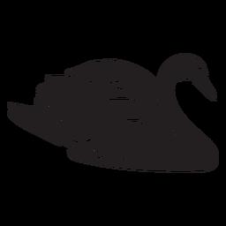 Ilustración de pato negro