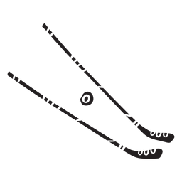 Black hockey sticks illustration