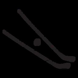 Ilustración de palos de hockey negro