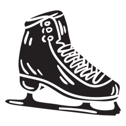 Black ice skate blade illustration