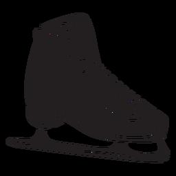 Ilustração de lâmina de patim de gelo preto