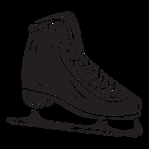 Black ice skate blade illustration