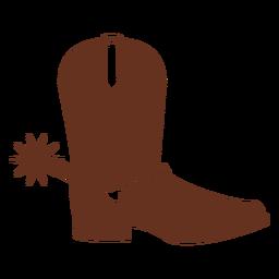Botas cowboy ocidental plana
