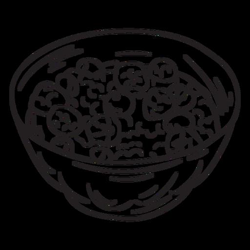 Bowl dish food oatmeal stroke Transparent PNG