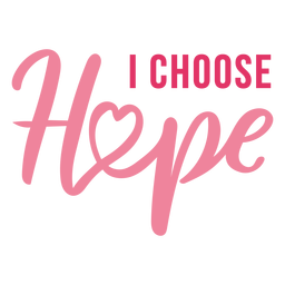 Breast cancer hope lettering