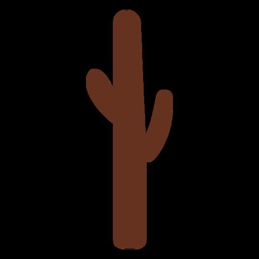 Ilustración de contorno marrón de cactus Transparent PNG