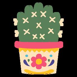 Cacto planta deserto méxico plana