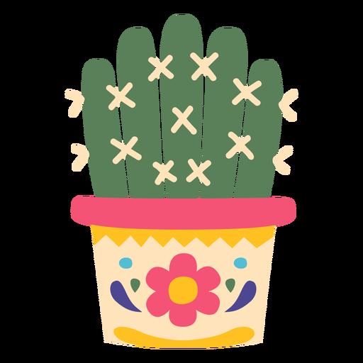 Planta de cactus desierto mexico plano