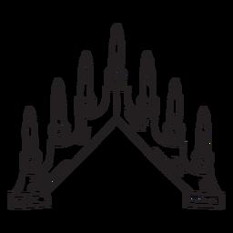 Candelabros candelabro suecia trazo