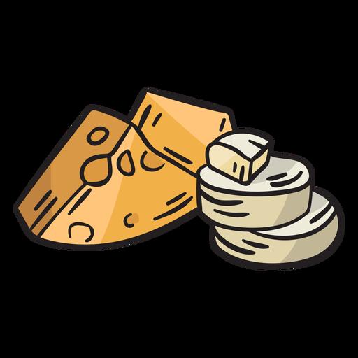 Cheese ireland traditional illustration