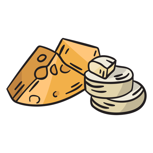 Ilustración tradicional de queso irlanda