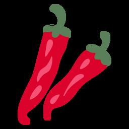 Ilustração de pimenta vermelha quente