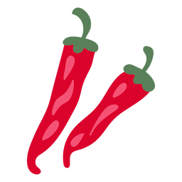Ilustración de ají rojo caliente
