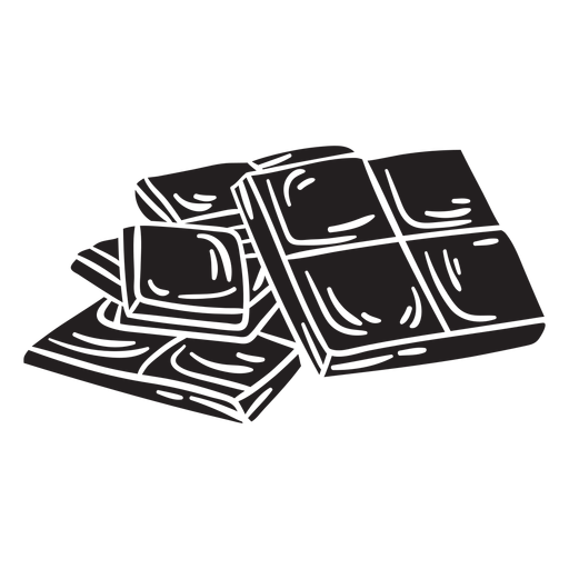 Barra de chocolate delicioso negro Transparent PNG