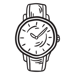 Reloj clásico accesorio trazo