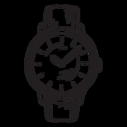 Trazo de accesorio de reloj clásico