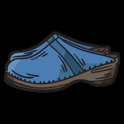 Zuecos zapatos calzado suecia ilustración