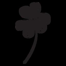 Clover shamrock irish black